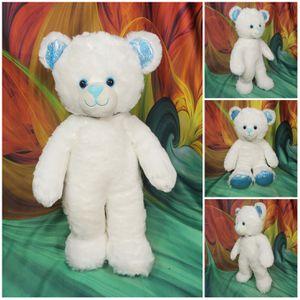 "🌺SUPER RARE Build A Bear White Teddy Blue Ears Nose Feet Plush Stuffed Animal 17"" for Sale in Dale, TX"