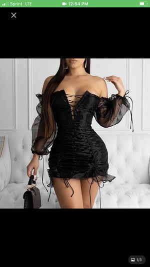 (New) Ladies black widow dress for Sale in Metairie, LA