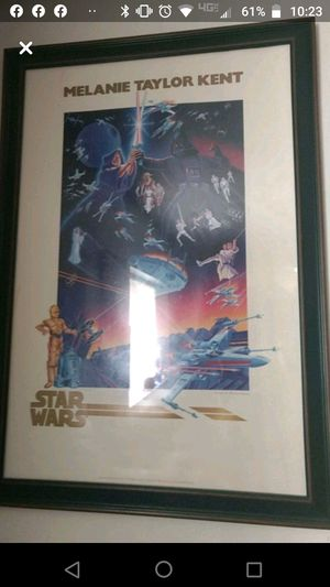 Taylor Kent Star Wars poster (price can be lowered) for Sale in Webster, NY