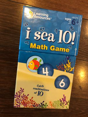 Math game - I Sea 10 game - ages 6+ - homeschool, teach math - CCSS for Sale in Buckeye, AZ