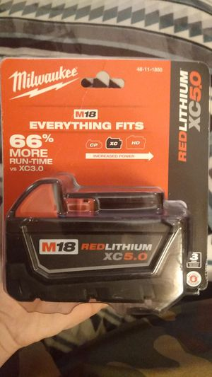 Milwaukee m18 xc5.0 battery for Sale in Portland, OR