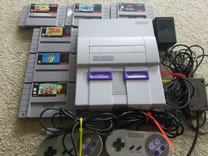 Super Nintendo with 6 games for Sale in Poulsbo, WA