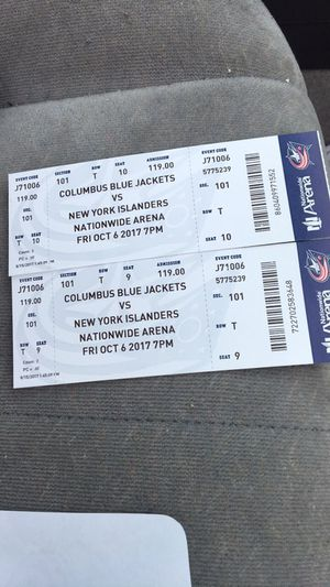 Blue Jackets open game tickets for Sale in Columbus, OH
