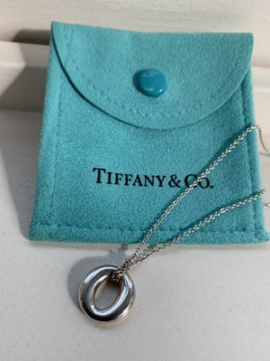 Tiffany and Co Sterling Silver Elsa Peretti Pendant Necklace for Sale in Portland, OR