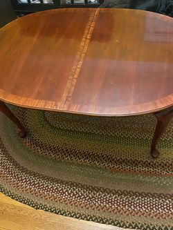 Dining Room Table & Chairs + 2 Leaves + Table Pads for Sale in Westwood,  MA