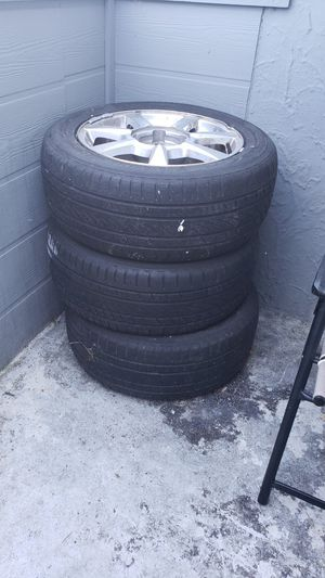 3 rims and tires for Sale in Tacoma, WA