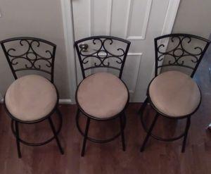 3 lovely bar height stools for Sale in Fairfax, VA