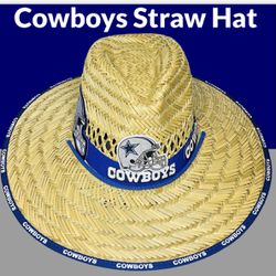 Dallas Cowboys straw hat (Great Gift 🎁) Same Day Shipping If Paid By 3pm (I Also Have Other Team's) for Sale in Phoenix,  AZ
