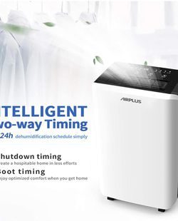 AIRPLUS 70 Pints Dehumidifier, Great Dehumidifiers for Basements, Efficient and Quick Moisture Removal with Continuous Drainage, Intelligent Control, for Sale in Hacienda Heights,  CA
