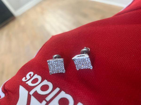 Diamond 💎 flat Screen Earrings 🧾