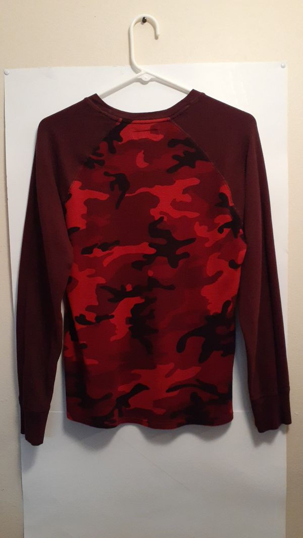 Polo Ralph Lauren Long Sleeve Red Camo Shirt