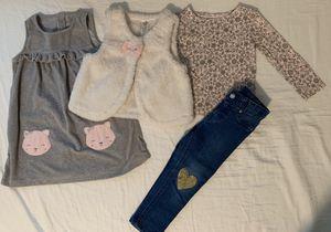 Girls clothes 3t jean dress vest for Sale in Sterling, VA