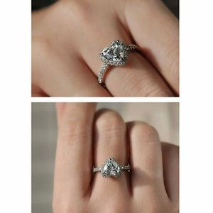 NEW Diamond Heart Silver Ring for Women Proposal Anniversary Wedding Engagement Promise Ring for Sale in Las Vegas, NV