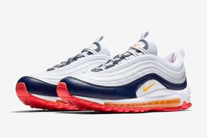 Nike Womens Air Max 97 'Platinum Navy Orange' (various sizes) • CD5078-100 for Sale in Rosemead, CA