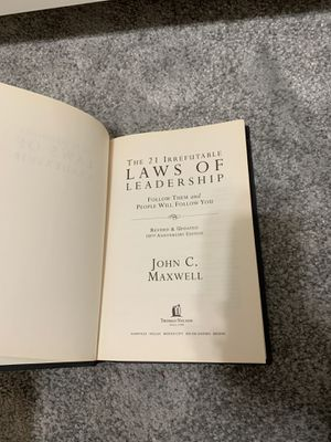 Business class book 21 Irrefutable Laws of Leadership for Sale in Lincoln, CA