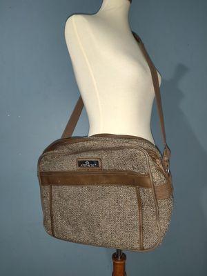 Vintage Jordache Brown Tweed Travel Luggage Tote Messenger Bag for Sale in Los Angeles, CA