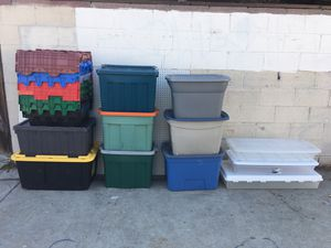 Storage tubs bins containers various sizes container for Sale in Culver City, CA