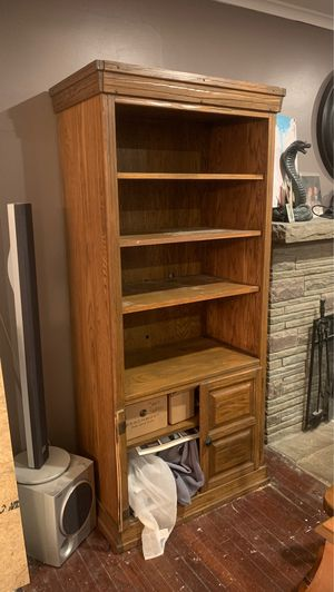 free bookcase (needs doors) for Sale in Nanticoke, PA