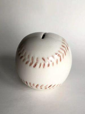 Old Baseball Ceramic Coin Bank Sports Ball for Sale in Mason, OH
