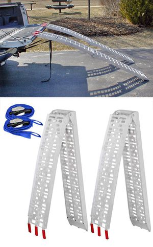 New $115 Pair 7.5ft Aluminum Motorcycle Folding Loading Ramp Street Dirt Bike 1500Lbs Rated for Sale in South El Monte, CA