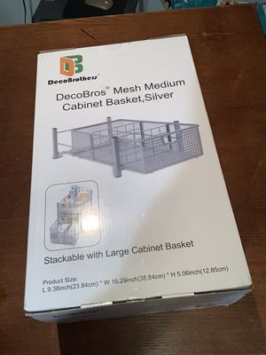 Cabinet basket for Sale in Chicago, IL