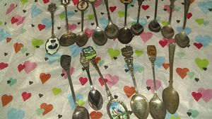 Little silver collector spoons from all over from all years for Sale in Lincoln, NE