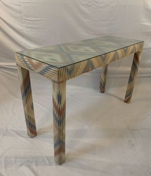 Vintage Upholstered Parsons Console Table for Sale in Delray Beach, FL