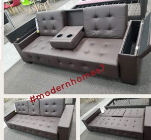 Sofa bed sleeper couch futon with storage for Sale in Los Angeles, CA