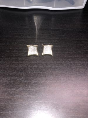 Real diamond square earrings for Sale in Tampa, FL