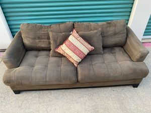 Beautiful green microfiber couch for Sale in Dallas, TX