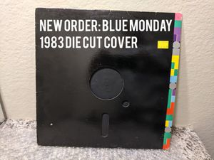 "New Order: Blue Monday/The Beach (12"") Die-Cut Quest USA/Factory 73 VG+ 1983 for Sale in Huntington Beach, CA"