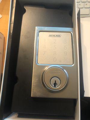Schlage Sense Smart Deadbolt with Century Trim in Satin Nickel (SMART LOCK!; Apple HomeKit!) $125 OBO for Sale in Boca Raton, FL