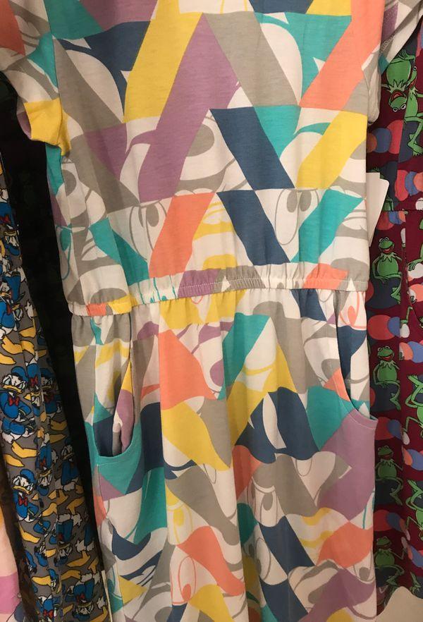 New W Tags Kids Disney Lularoe Dress Mae Size 10 Group 1