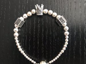 Sterling silver king/queen bracelet for Sale in Etters, PA