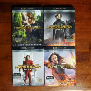 4K UHD Blu-ray & Blu-ray Hunger Games 4 Movie Set for Sale in Los Angeles, CA