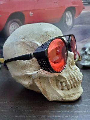 AVIATORS Sunglasses RETRO Red Lenses Flat Black Frames for Sale in Long Beach, CA