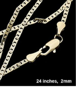 24 inch 14 karat gold 2 mm chain for Sale in Parkville, MD