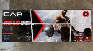 CAP 110 lb Olympic Weight Set w/ 7 ft Bar - NEW IN HAND for Sale in Pottsville, PA
