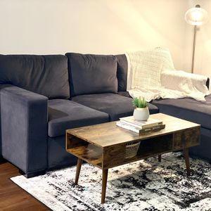 Charcoal Gray Reversible Sectional Sofa for Sale in Atlanta, GA