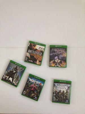 Xbox One Games: battlefield saints row farcry 4 assassins creed unity for Sale in La Costa, CA