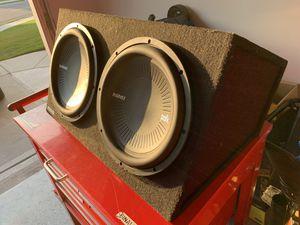 Polk audio mm1242 dual sub box for Sale in Cumming, GA