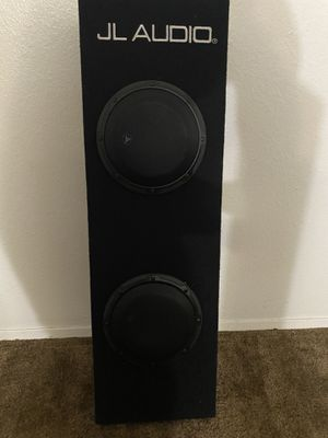 "Jl audio 2-8"" subwoofers in ported box with built in amplifier for Sale in Scottsdale, AZ"
