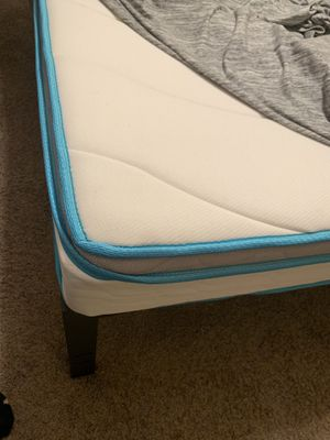 King bed mattress(memory foam) with bed frame for Sale in Tyler, TX