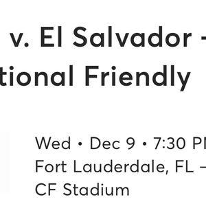 U.S. Soccer vs El Salvador for Sale in Miami, FL