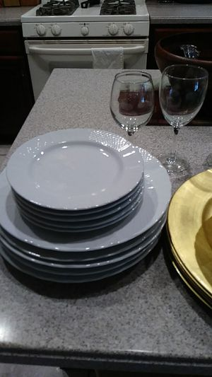 Plates saucers and bowls glasses 6 each for Sale in Celebration, FL