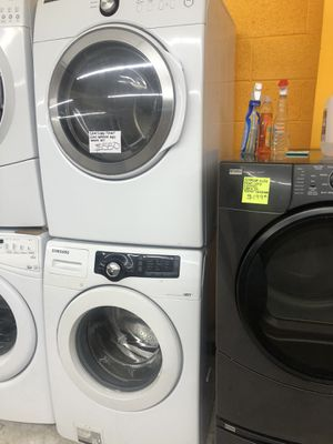 Samsung front load washer and dryer set in perfect condition for Sale in Laurel, MD