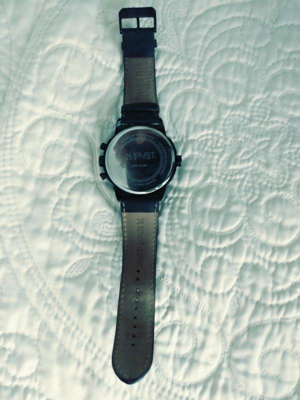 Original August leather wristwatch