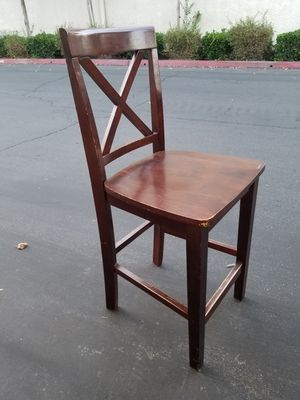 Dark Wood Cafe Hi-Chairs for Sale in Fresno, CA