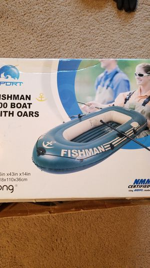 Fishman inflatable fishing boat for Sale in Pittsburgh, PA