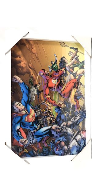 🎄🎁 DC Comics Framed Picture 13x19- Brand New for Sale in Vancouver, WA